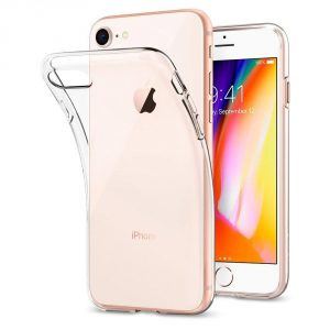 Coque Iphone 8 transparente Spigen (Liquid cristal)